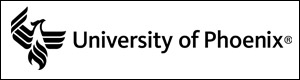 Horizontal University of Phoenix logo, black text on white background; Link to JPEG file